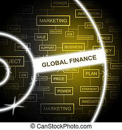 Global Finance Worldwide - Global Finance Indicating Money...