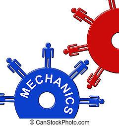 Mechanics Cogs Engineers - Mechanics Cogs Representing Gear...