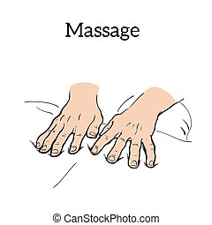 Therapeutic manual massage Medical therapy - hands to body...