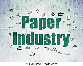 Manufacuring concept: Paper Industry on Digital Data Paper...