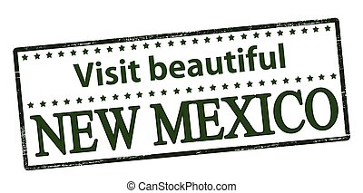 Visit beautiful New Mexico - Rubber stamp with text visit...