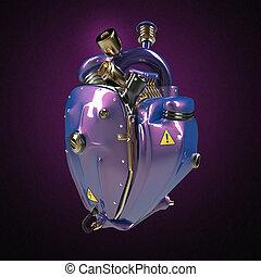 motor, corazón, tubos, púrpura, punk, partes, Diesel,...