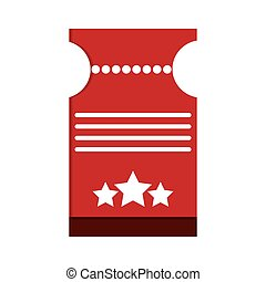 movie ticket icon - flat design movie ticket icon vector...