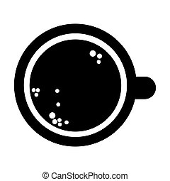 coffee cup topview icon - flat design coffee cup topview...