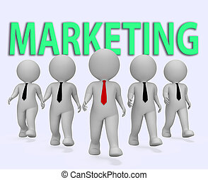 Marketing Businessmen Indicates Businessman Media And...