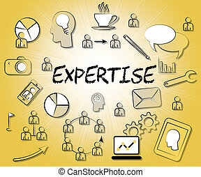 Expertise Icons Means Trained Experts And Proficiency -...