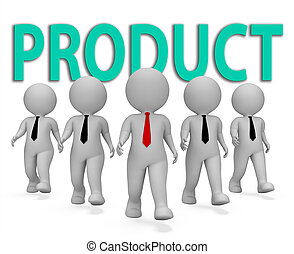 Product Businessmen Represents Shop Store And Buy 3d...