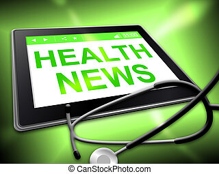 Health News Represents Preventive Medicine And Article -...