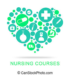 Nursing Courses Indicates Nurse Job And Caregiver - Nursing...