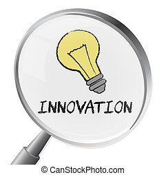 Innovation Magnifier Indicates Magnification Innovating And...