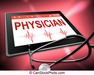 Physician Tablet Indicates General Practitioner And Md -...