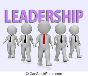 Leadership Businessmen Indicates Control Entrepreneur And...
