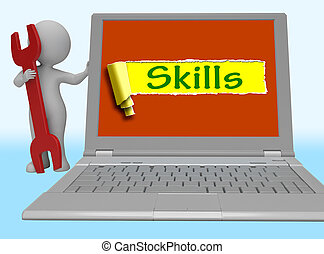 Skills Word Shows Training And Learning On Web 3d Rendering