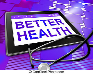 Better Health Indicates Preventive Medicine And Best -...
