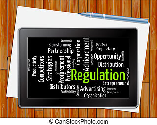 Regulation Word Indicates Guidelines Rule And Regulate...