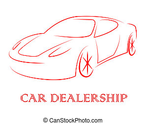 Car Dealership Represents Business Concern And Automobile -...