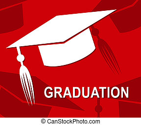 Graduation Mortarboard Represents Ceremony Uni And Graduated...