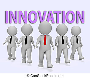 Innovation Businessmen Means Transformation Entrepreneurs...