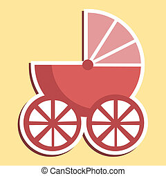 Pram Icon Indicates Parenting Buggy And Perambulator - Pram...