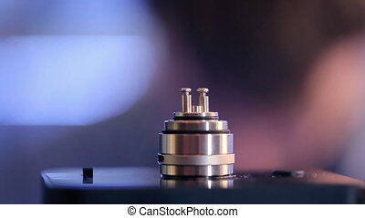 Accepted atomizer from electronic cigarette in a...