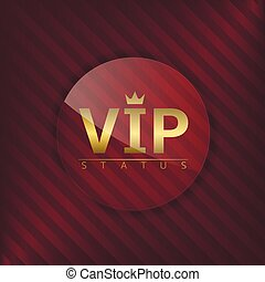 VIP status glass label Glamour emblem, royal badge
