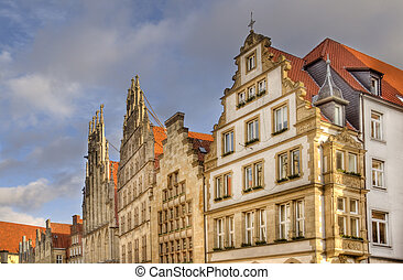 Gables of Buildings in Munster, Ger - Gables of historical...