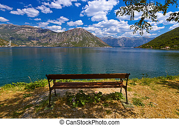 Boka Kotor bay - Montenegro - nature and travel background