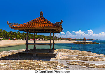 Nusa Dua Beach in Bali Indonesia - nature vacation...