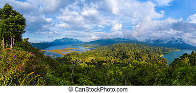 Lakes Buyan and Tamblingan - Bali Island Indonesia - nature...