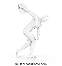 a discus thrower
