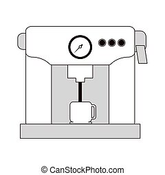 coffee machine icon - flat design coffee machine icon vector...