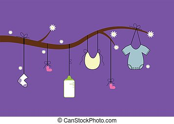 Purple Baby Clothes Line