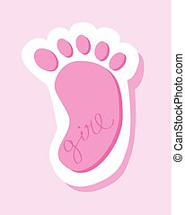Pink Baby Girl Foot