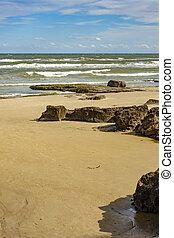 Cal beach - View of the beach of Cal in the city of Torres,...