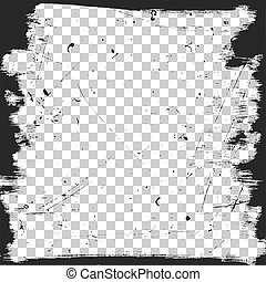 Grunge border template with scratches texture Vector brush...