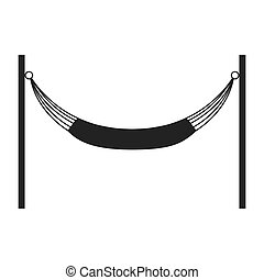 hammock silhouette icon Resting and sleep design Vector...