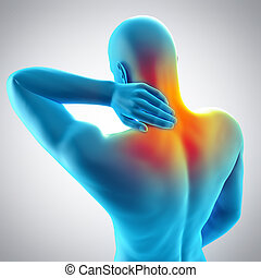 neck pain - medically accurate 3d illustration of neck pain
