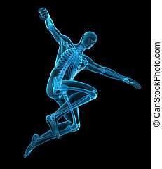 a sportsman pose - medically accurate 3d illustration of a...