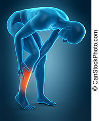 calf pain - medically accurate 3d illustration of calf pain