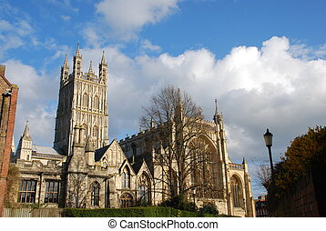 Gloucester Cathedral - the famous Gloucester Cathedral,...