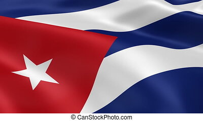 Cuban flag in the wind Part of a series