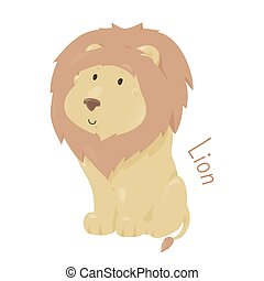 Lion isolated Child fun pattern icon - Lion isolated on...