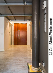 Entrance hall in industrial style - Modern home entrance...