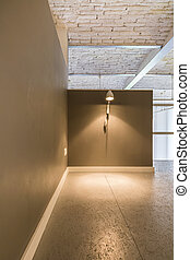 Home interior in industrial style idea - Spacious corridor...