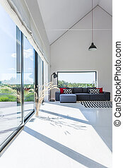 Modernity in a living room - Shot of a modern, minimalistic...