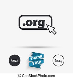 Domain ORG sign icon Top-level internet domain symbol with...