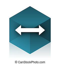 arrow blue cube icon, modern design web element