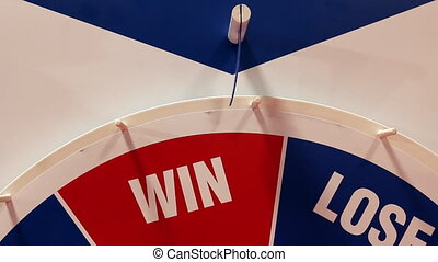 Roulette wheel stops at Lose - Big red blue lottery or...