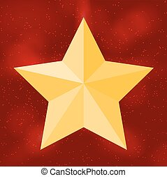 Silhouette of beautiful star on background the sky. Vector Illus