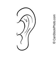 Ear icon Medical and body part design Vector graphic -...